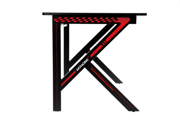 AKRacing Gaming Desk Red - Side