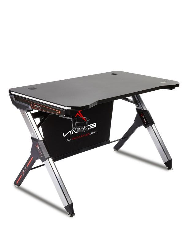 Ewin Gaming Desk Black (GD-RGB-A) - Front
