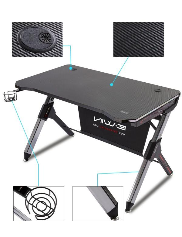 Ewin Gaming Desk Black (GD-RGB-A) - Features