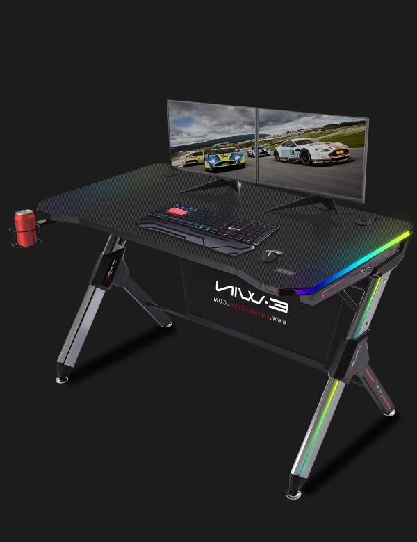 Ewin Gaming Desk Black (GD-RGB-A) - Angle