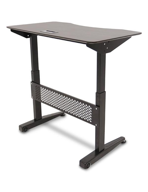 Ewin Gaming Desk (SRA-BROWN) - Standing desk angle