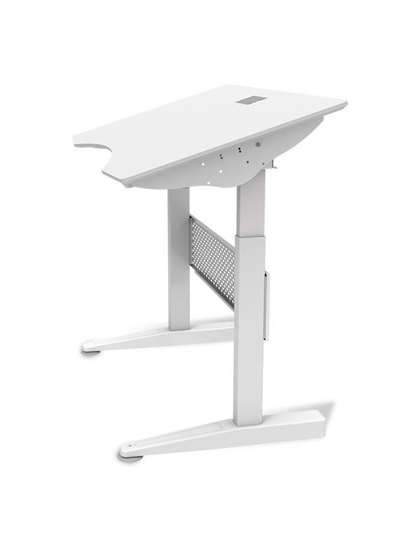 Ewin Gaming Desk (SRA-WHITE) - Tilted