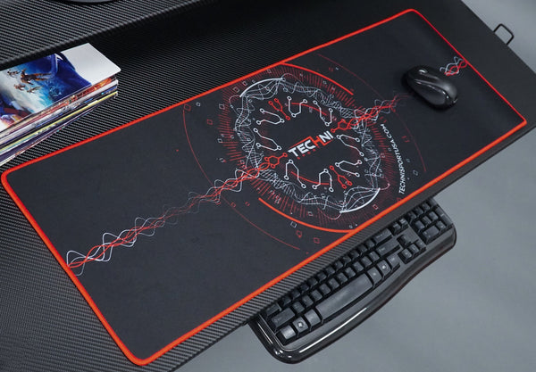 Runway Circuit mouse pad Red - Angle
