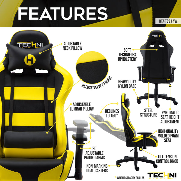 Techni Sport TS91 Yellow - Features