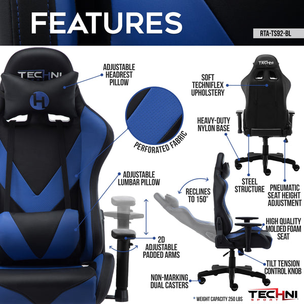 Techni Sport TS92 Blue - Features