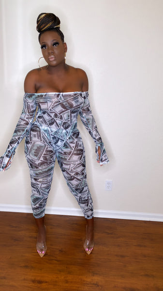 Money Green Two Piece