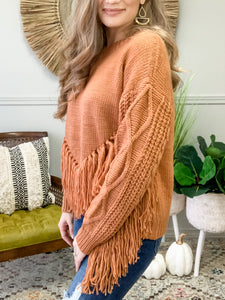 Cozy In Love Fringe Sweater
