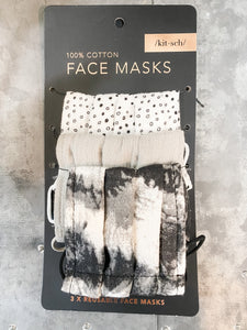 Tie-Dye Cotton Face Mask (pack of 3)