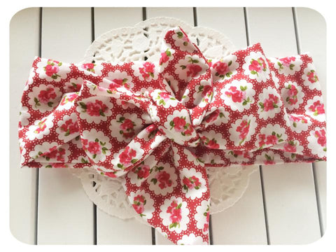 Big Bow Country Garden Head Wrap