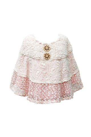 Baby Sara In the Spotlight Lace Cape B3615
