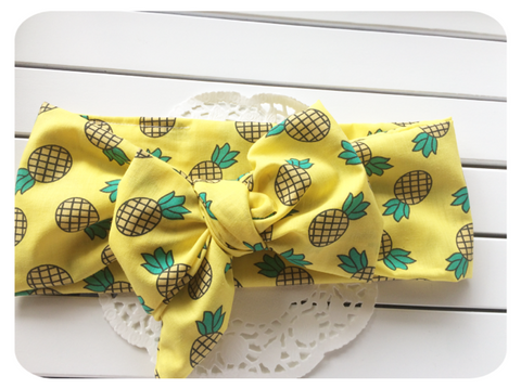 Big Bow Pineapple Crush Head Wrap