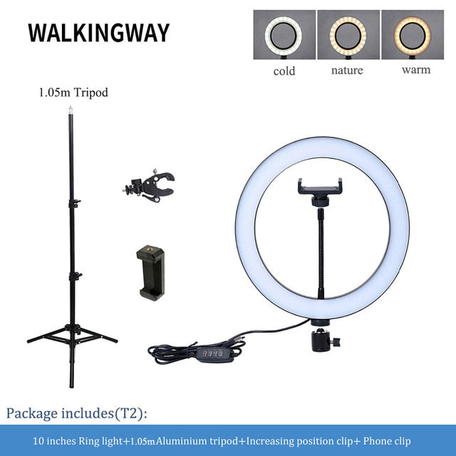 "10"" LED Ring Light with Phone Stand"