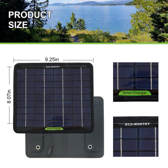 12 Volt 5 Watt Portable Solar Kit