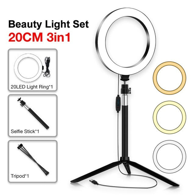 3 in 1 LED Ring Light