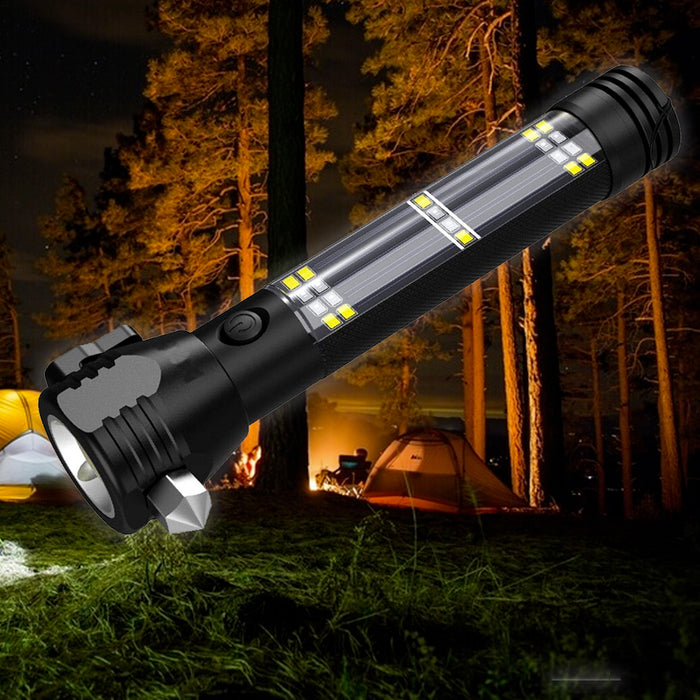 Rechargeable LED Solar Tactical Flashlight