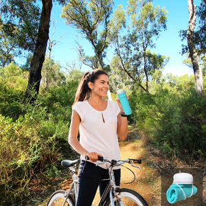 Rolla bottles are easy to carry home when empty - just roll them up and tuck into your pocket or bag. Great for when your bike riding or exercising. And there's a Lifetime guarantee on these BPA free, silicone Rolla water bottles.