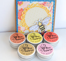 Load image into Gallery viewer, All five Tree Haven natural Lip Balms