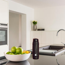 Load image into Gallery viewer, Black Rolla bottle with black lid on kitchen bench