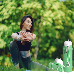 Mint Rolla bottle with white lid - ideal for yoga time