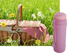 Load image into Gallery viewer, Pink Lilac with pink lid Rolla Bottle - perfect for picnics