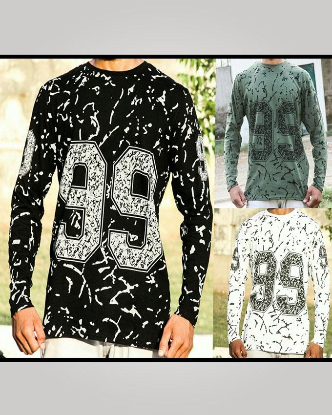 Pack of 3 Round Neck 99 Printed T-shirt For Men