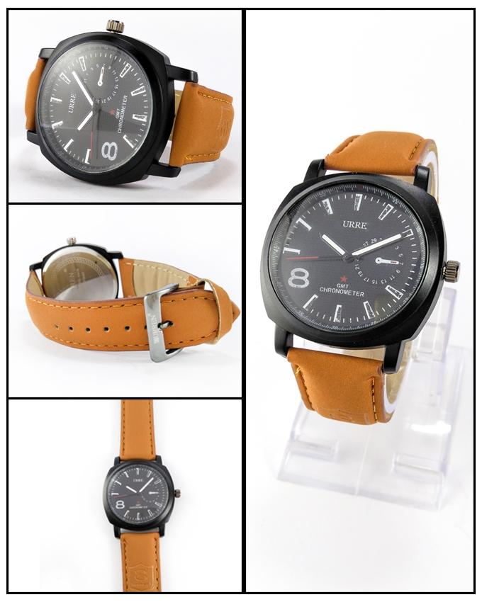 Brown Leather Strap Watch For Men - ABZ-5717 - Paksa Pk