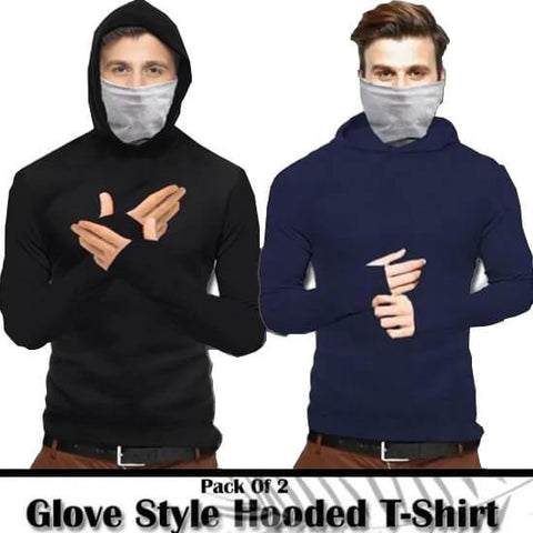 Pack of 2 Glove Style Hoodie T-shirts For Men - Paksa Pk