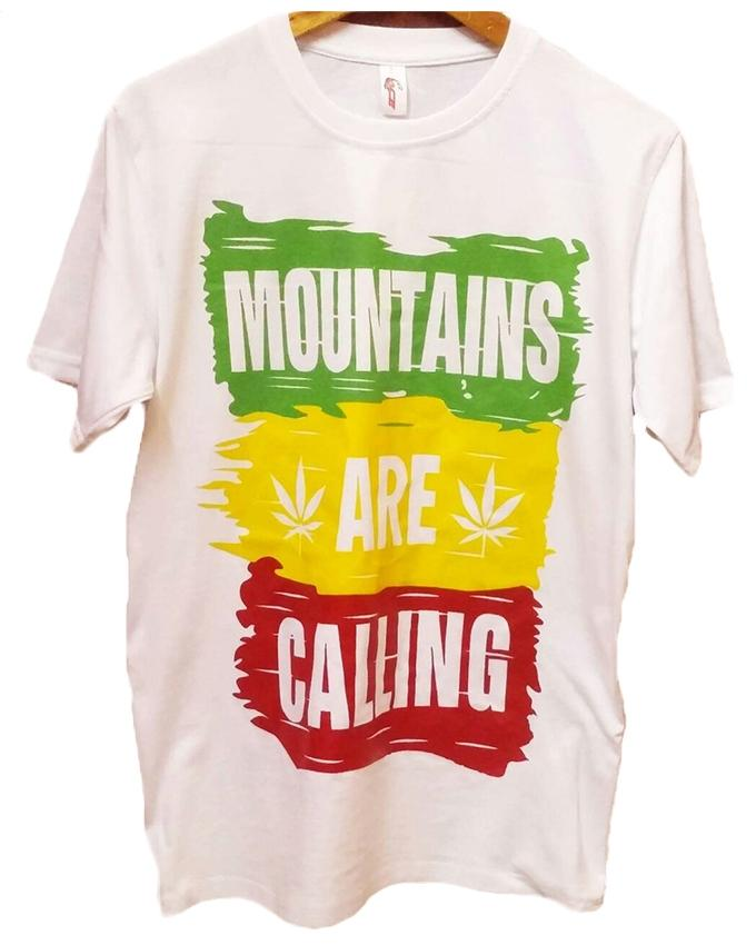 Mountain Are Calling Printed T-shirt For Men