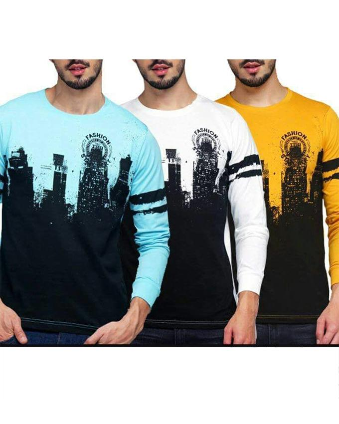 Pack of 3 Fashion Opinion T-shirts For Men - Paksa Pk