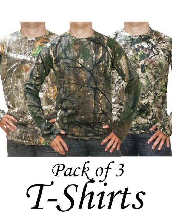 Pack Of 3 Forest Printed T-Shirts For Men