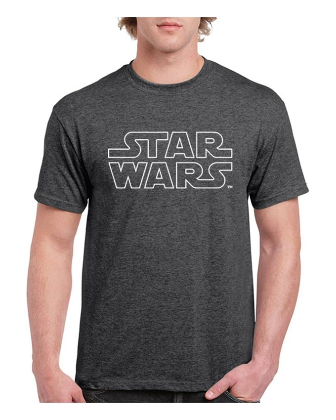 Charcoal Star Wars Printed T-shirt For Men