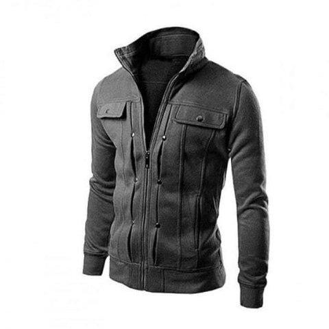 Charcoal Mexican Zipper Jacket For Men - Paksa Pk