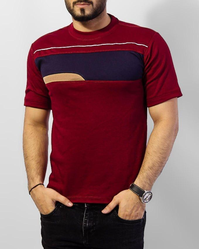 Maroon Men's Cotton Round Neck T-Shirt - Paksa Pk