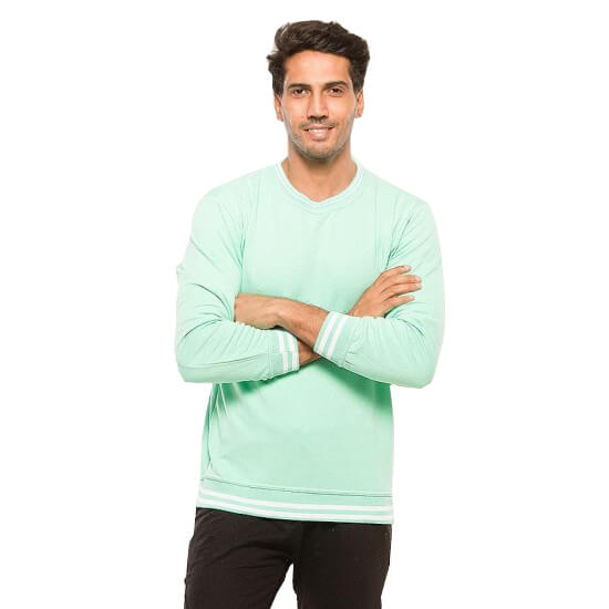 Light Green Sweat Shirt For Men