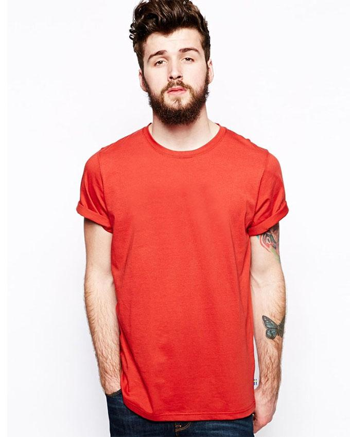 Red Round Neck T-Shirt For Men