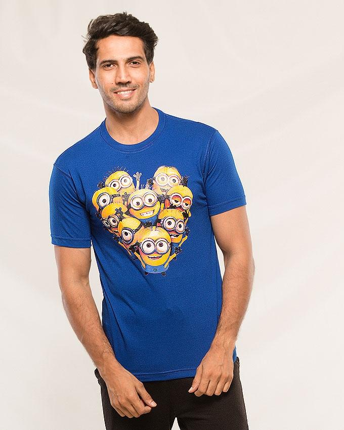 Royal Blue Minion Printed T-shirt For Men - Paksa Pk