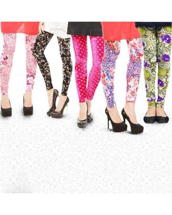 Pack of 5 Printed Ladies Tights For Women