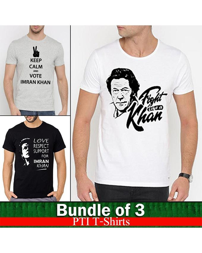Pack of 3 PTI Printed T-shirts For Men