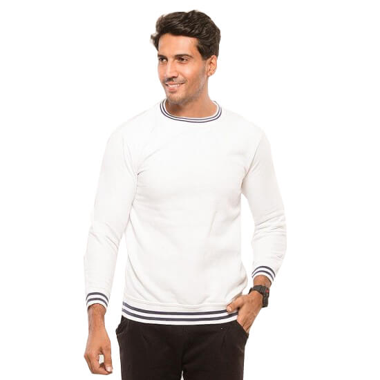 White Sweat Shirt For Men - Paksa Pk