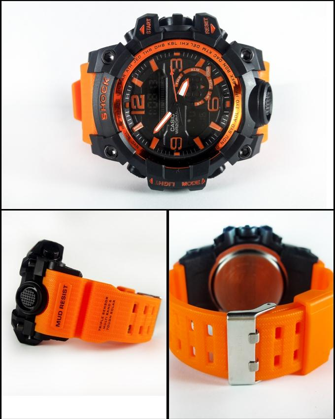 Orange Sport Watch For Men - Paksa Pk