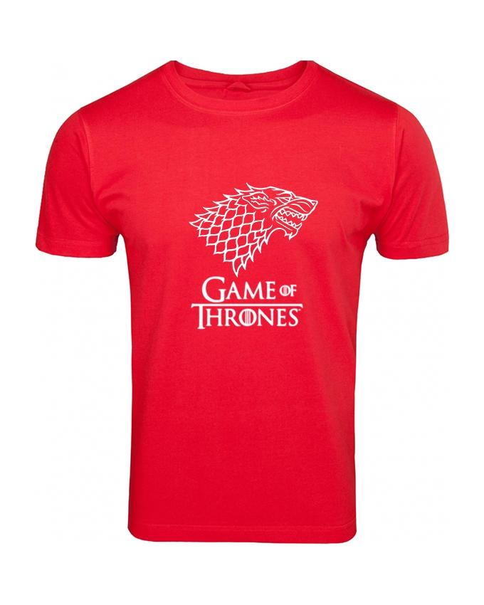 Red Game Of Thrones Printed T-shirt For Men - Paksa Pk