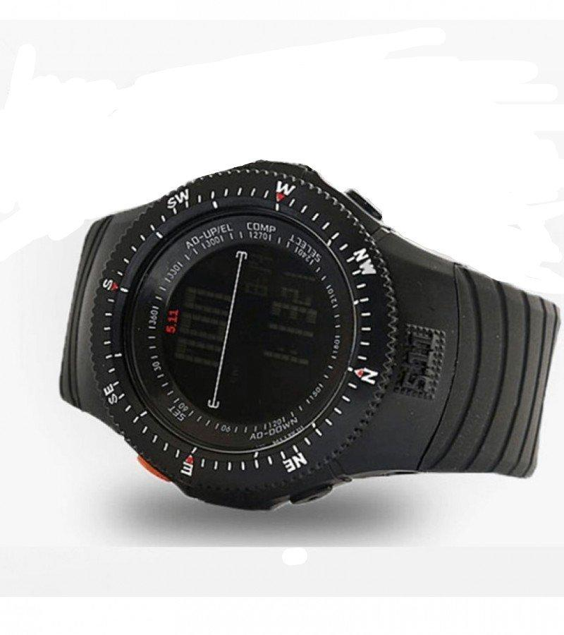 511 Army Rubber Digital Tactical Watch For Men-Black - Paksa Pk