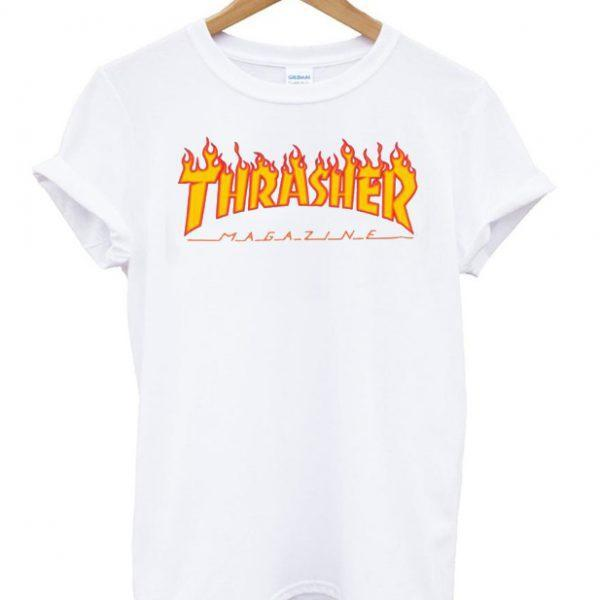 Thrasher Printed With Half Sleeves T Shirt For Men - Paksa Pk