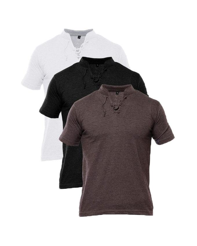 Pack Of 3 New Style Pullover T Shirt For Men
