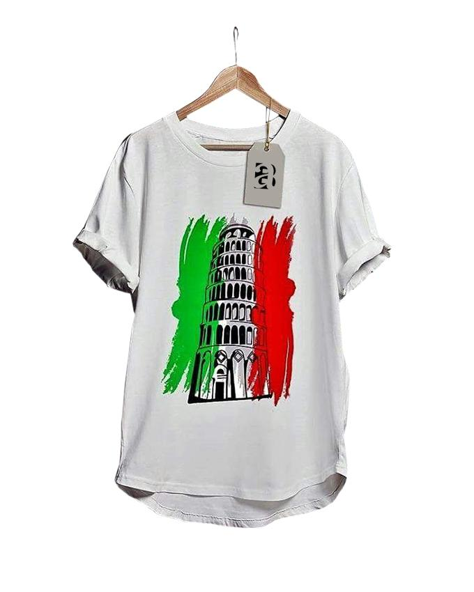 Pisa Tower Printed T-shirt for men - Paksa Pk