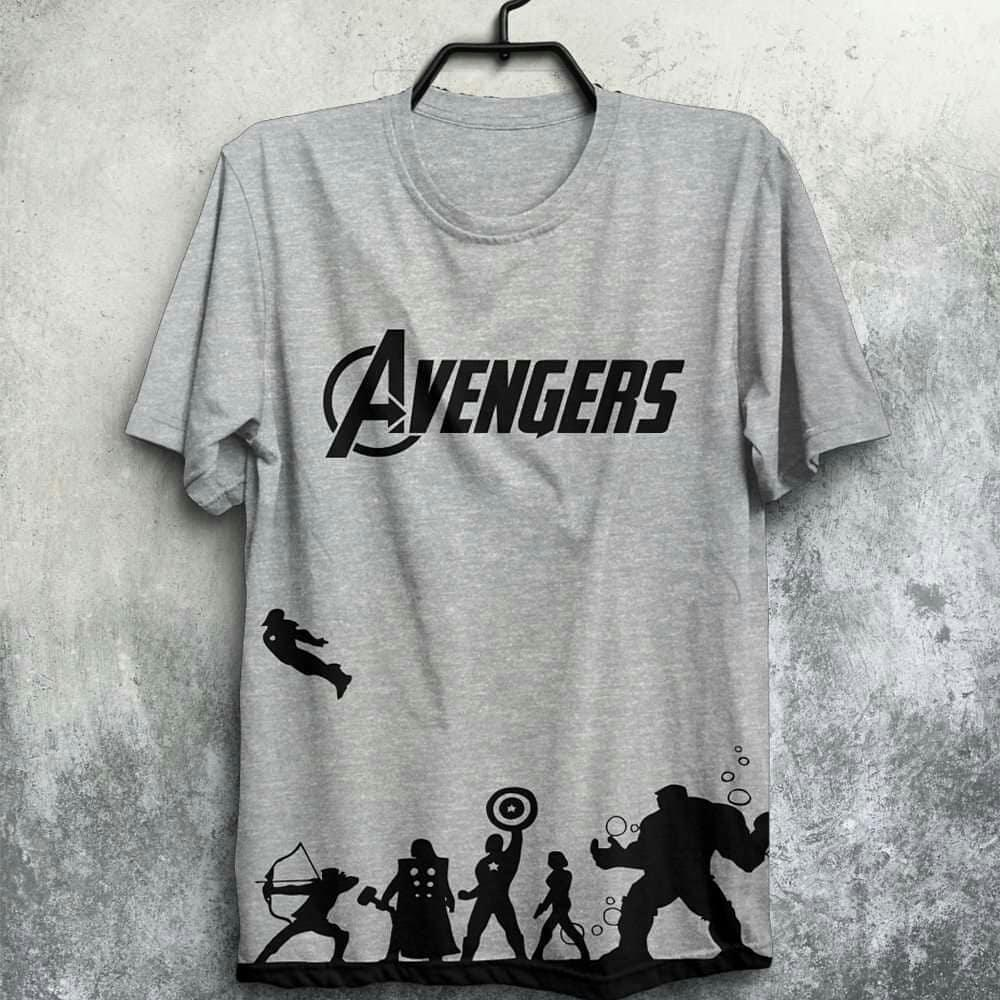 Avengers Printed Grey T Shirt For Men - Paksa Pk