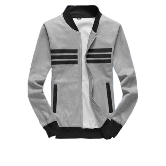 Chest Strap Grey Fleece Jacket