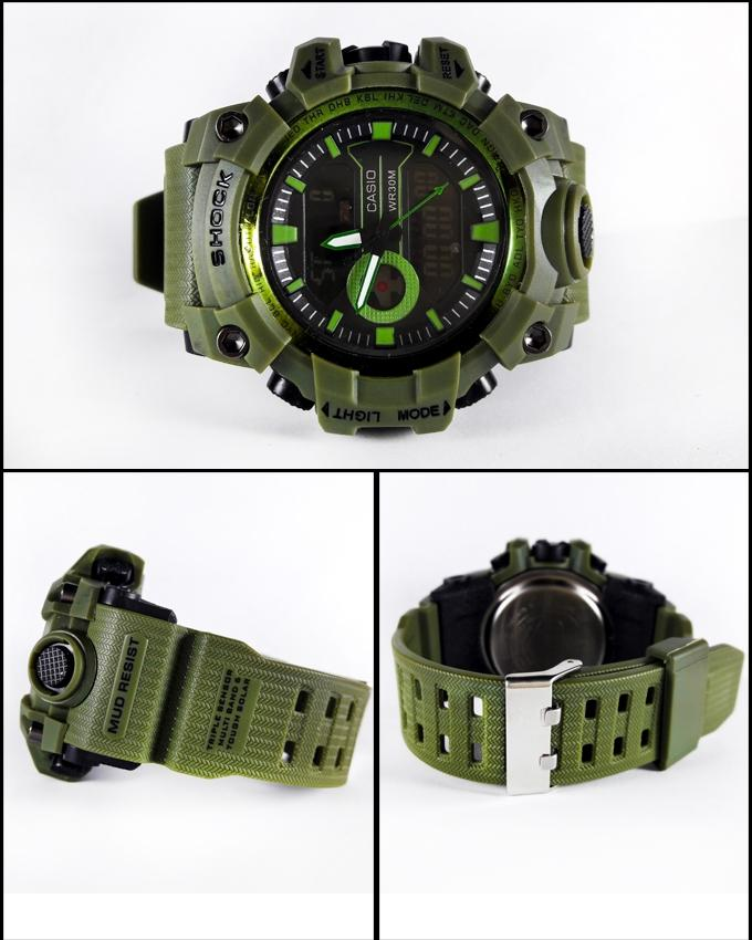 Green Sport Watch For Men - Paksa Pk