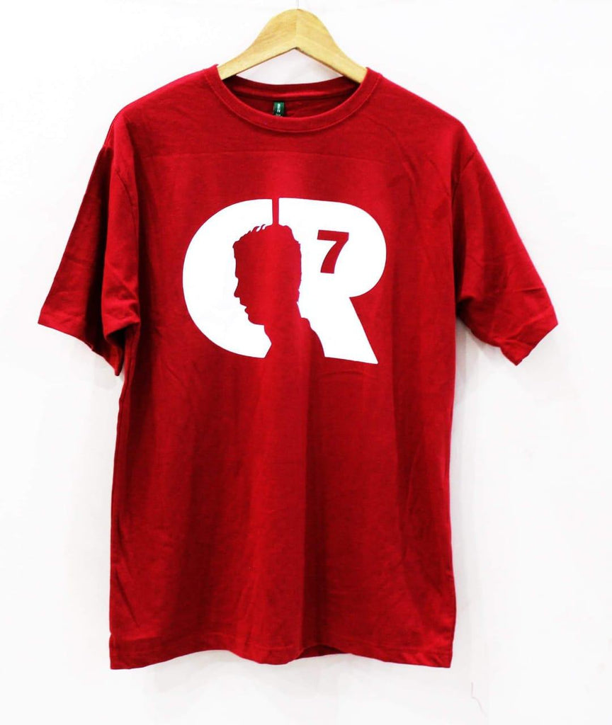 Red Decent Style Half Sleeves T Shirt For Men