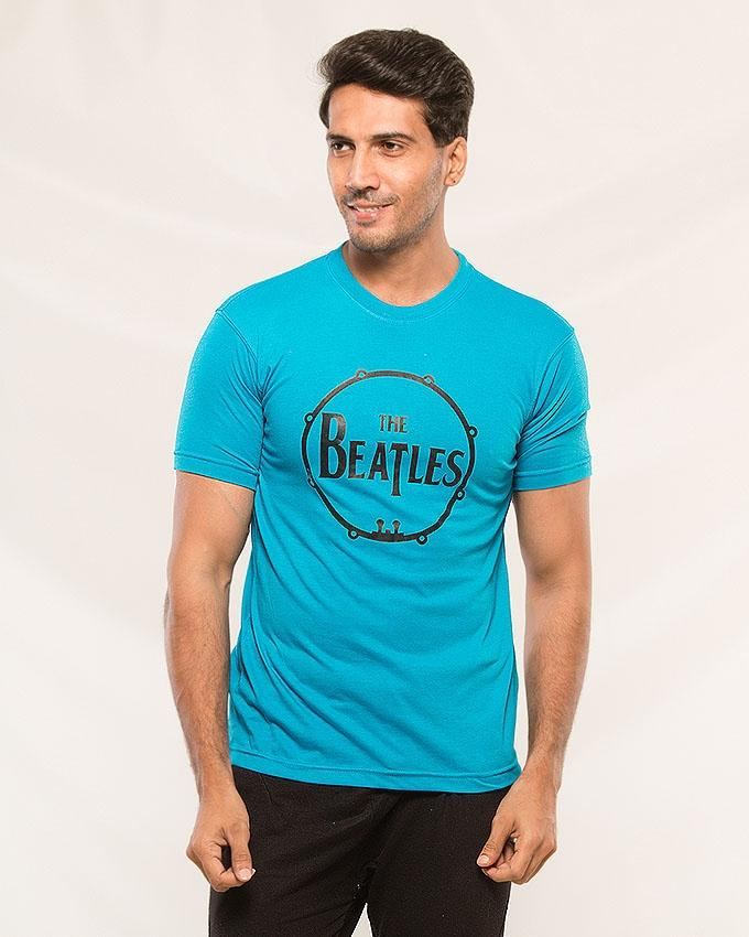 Sky Blue The Beatles Printed T-shirt For Men